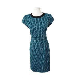 "Mod ""Madmen"" Style Blue & Black Shift Dress"